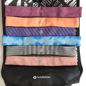 lululemon headbands (6 pc)